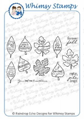 Whimsy Stamps - Autumn Leaves - Sentiments Collection