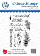 *** Whimsy Stamps - Feather and Flourish Sentiments - SC Design Collection