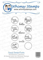 * Whimsy Stamps - Simply Stitched Circles - Sentiments Collection