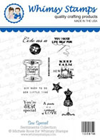 * Whimsy Stamps - Sew it Special - Sentiments Collection