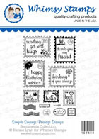* Whimsy Stamps - Simple Sayings Postage Stamps - Sentiments Collection