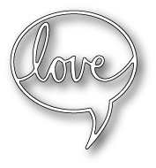 Poppystamps - Love Word Balloon