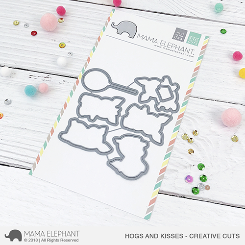 *NEW* - Mama Elephant - Hogs and Kisses - Creative Cuts