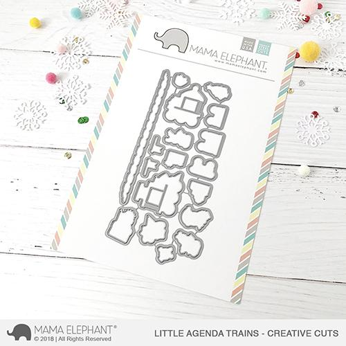 *NEW* - Mama Elephant - Little Agenda Trains - Creative Cuts