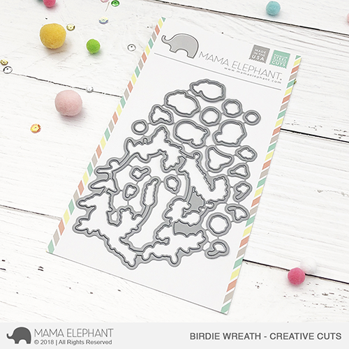 *PRE-ORDER* - Mama Elephant - Birdie Wreath - Creative Cuts