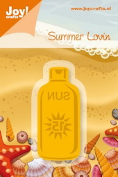 *NEW* Joy! Crafts Cutting & Embossing Stencil - Bottle of Sunscreen