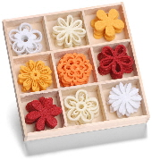 cArt-Us - Felt ornament box - flower fantasy
