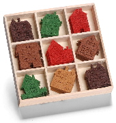 cArt-Us - Felt ornament box - houses