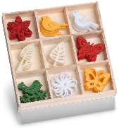 cArt-Us - Felt ornament box - floral fine