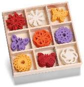 cArt-Us - Felt ornament box - butterfly ornament
