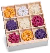 cArt-Us - Felt ornament box - fantasy flowers