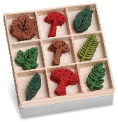 cArt-Us - Felt ornament box - mushroom leaves