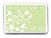 Hero Arts Shadow Ink - Green Hills Mid Tone
