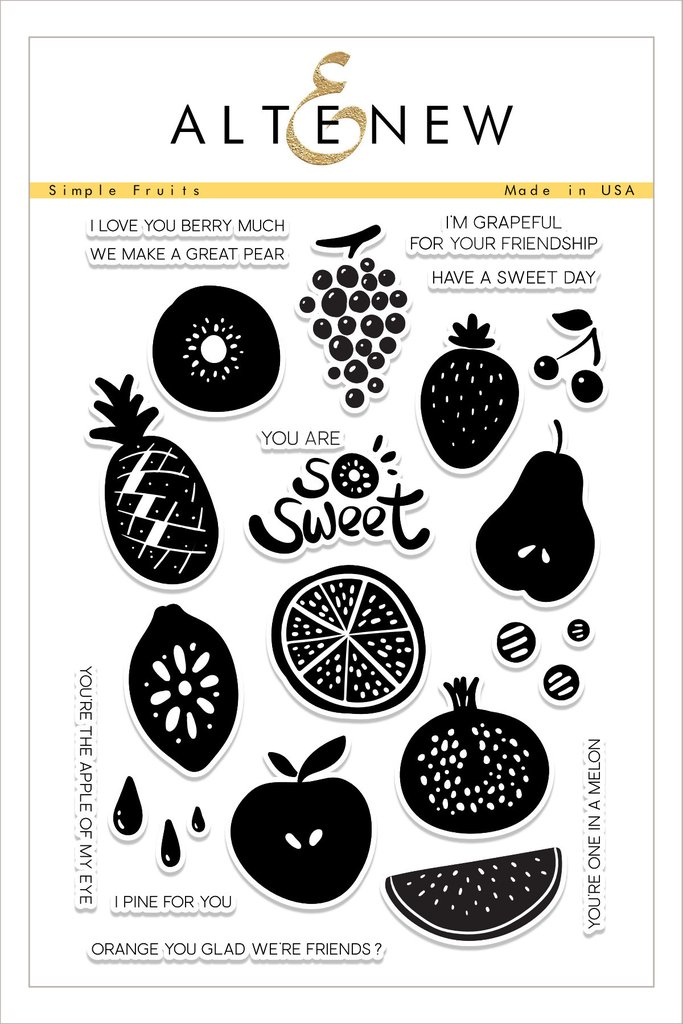 AlteNew - Simple Fruits Stamp Set