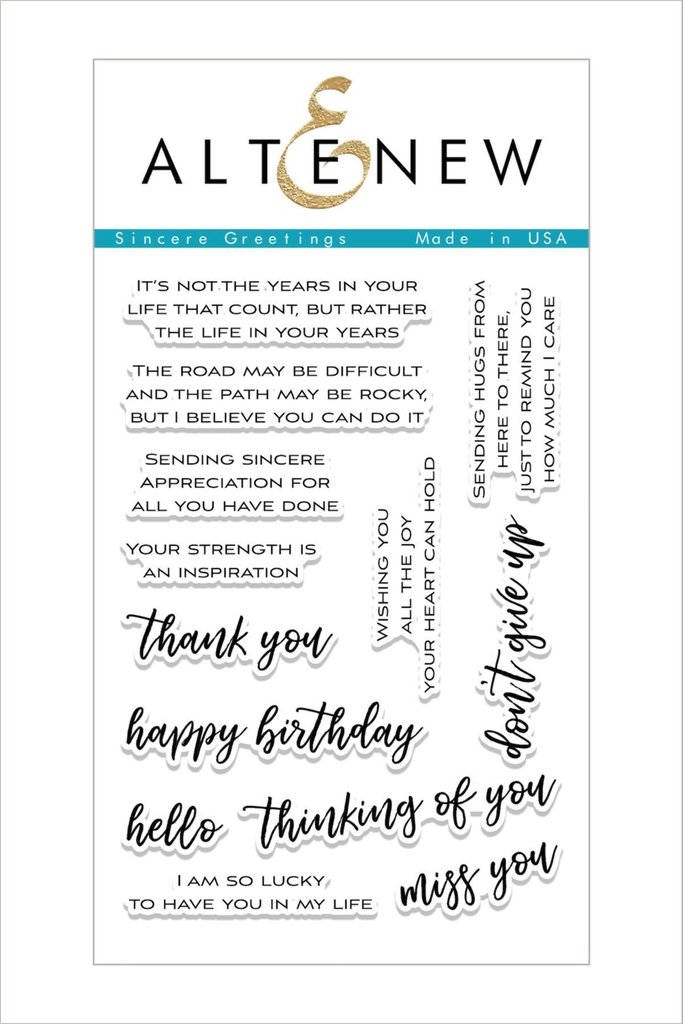 Altenew - Sincere Greetings Stamp Set