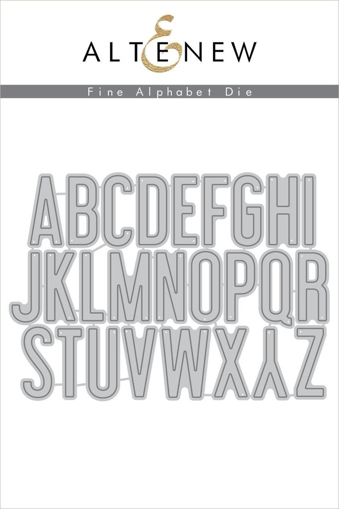 *NEW* - Altenew - Fine Alphabet Die Set