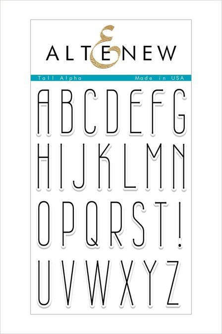 Altenew - Tall Alpha Stamp Set
