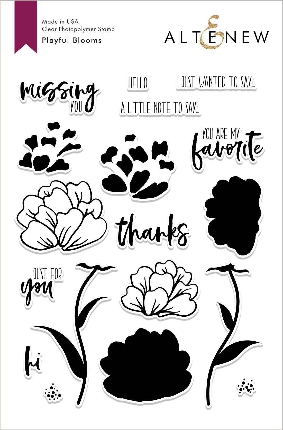 *NEW* - Altenew - Playful Blooms Stamp Set