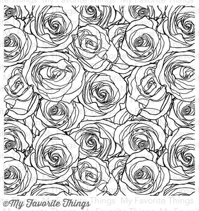 My Favorite Things Roses All Over Background Stamp