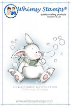 Whimsy Stamps - Bunny Blows Bubbles - Crissy Armstrong Collection