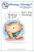 Whimsy Stamps - Cat Stop Thinking of You - Crissy Armstrong Collection