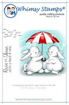 Whimsy Stamps - Bunny Rainy Day - Crissy Armstrong Collection