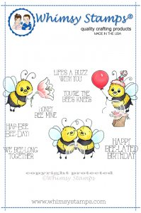 Whimsy Stamps - Bee Happy - Crissy Armstrong Collection