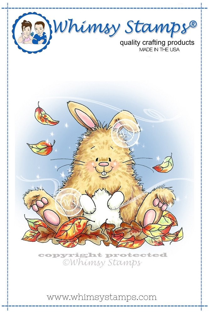 Whimsy Stamps - Bunny in Leaves - Crissy Armstrong Collection