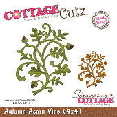 CottageCutz - Autumn Acorn Vine (4x4)