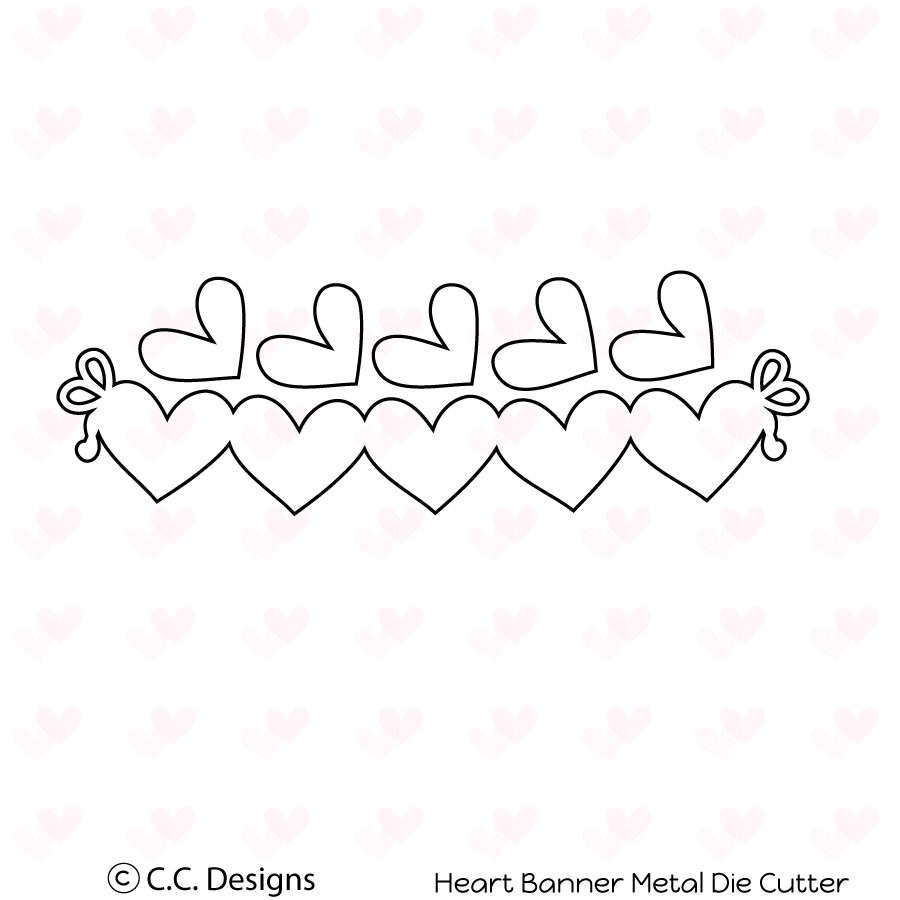CC Designs - Heart Banner Metal Die