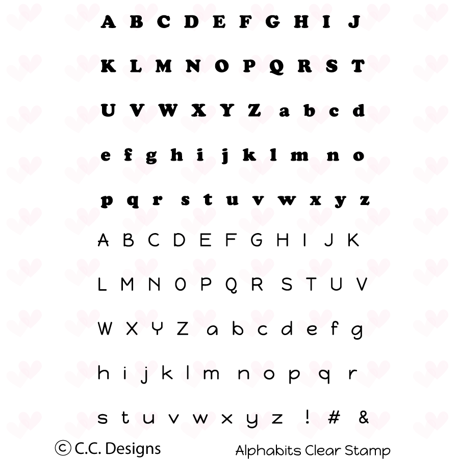 *NEW* - CC Designs - Alphabits Clear Stamp Set