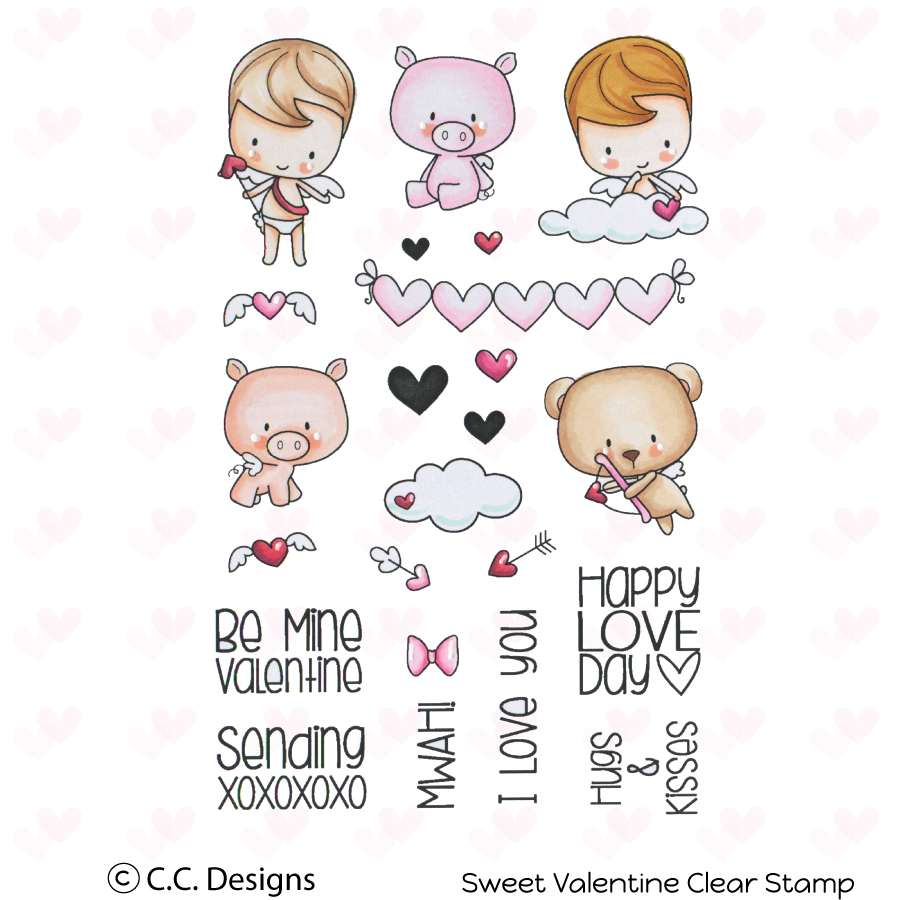 CC Designs - Sweet Valentine Clear Stamp Set