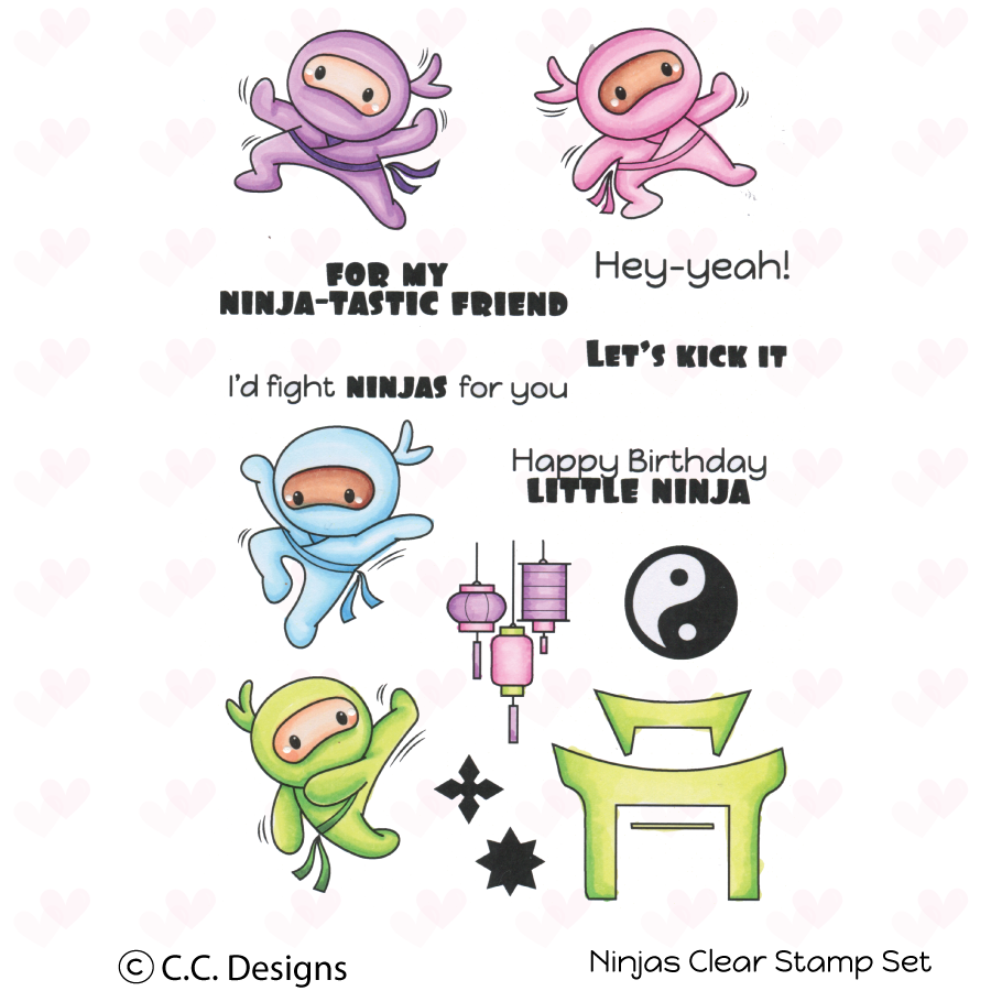 *NEW* - CC Designs - Ninjas Clear Stamp Set