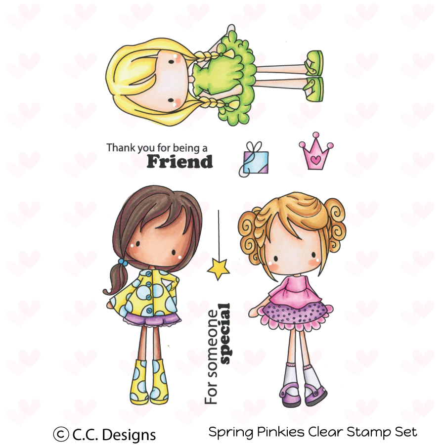 *NEW* - CC Designs - Spring Pinkies Clear Stamp Set