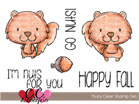 *PRE-ORDER* - CC Designs - Nuts Clear Stamp Set