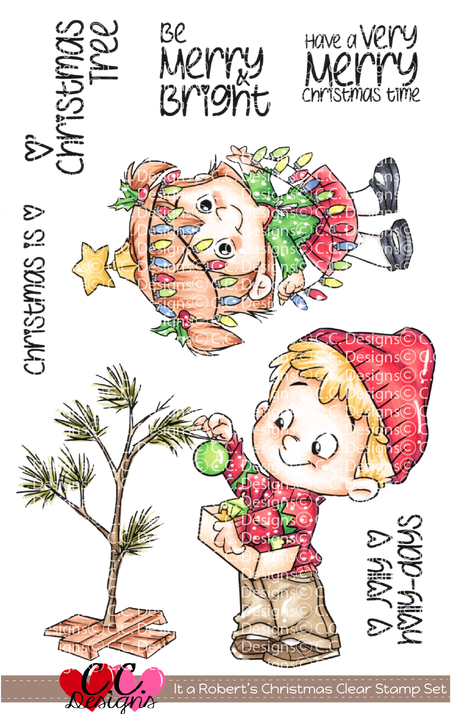 *PRE-ORDER* - CC Designs - It's a Roberto's Christmas Clear Set