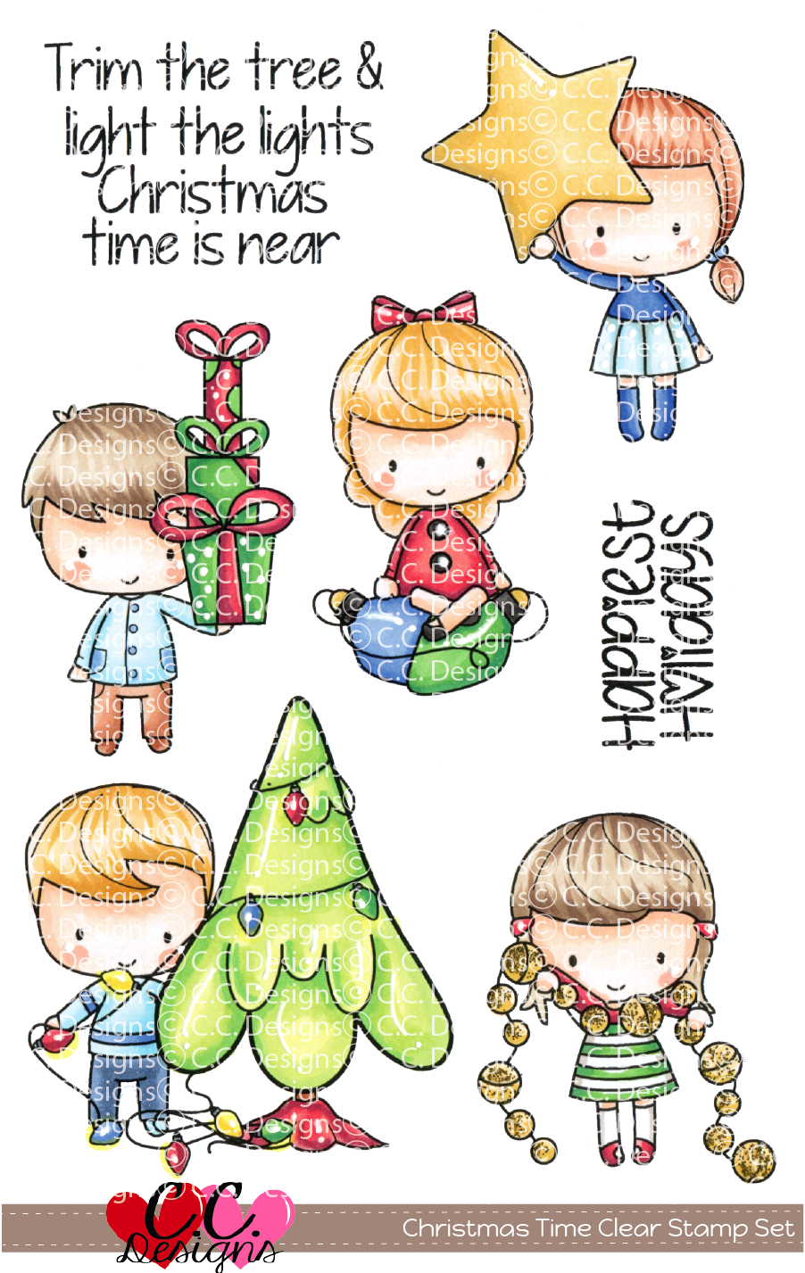 *PRE-ORDER* - CC Designs - Christmas Time Clear Set