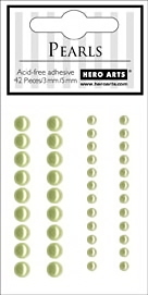 Pearls - Self Adhesive - Light Green