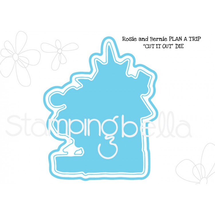 *PRE-ORDER - Stamping Bella - Rosie and Bernie plan a trip CUT IT OUT DIE