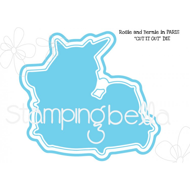 *PRE-ORDER - Stamping Bella - Rosie and Bernie in Paris CUT IT OUT DIE