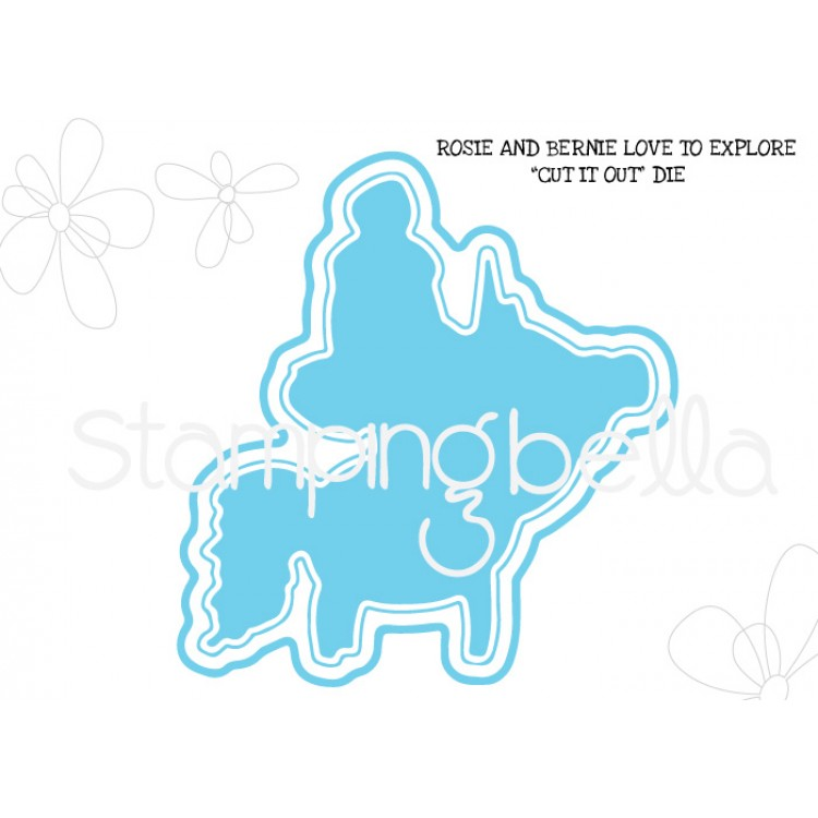 *PRE-ORDER - Stamping Bella - Rosie and Bernie love to explore CUT IT OUT DIE