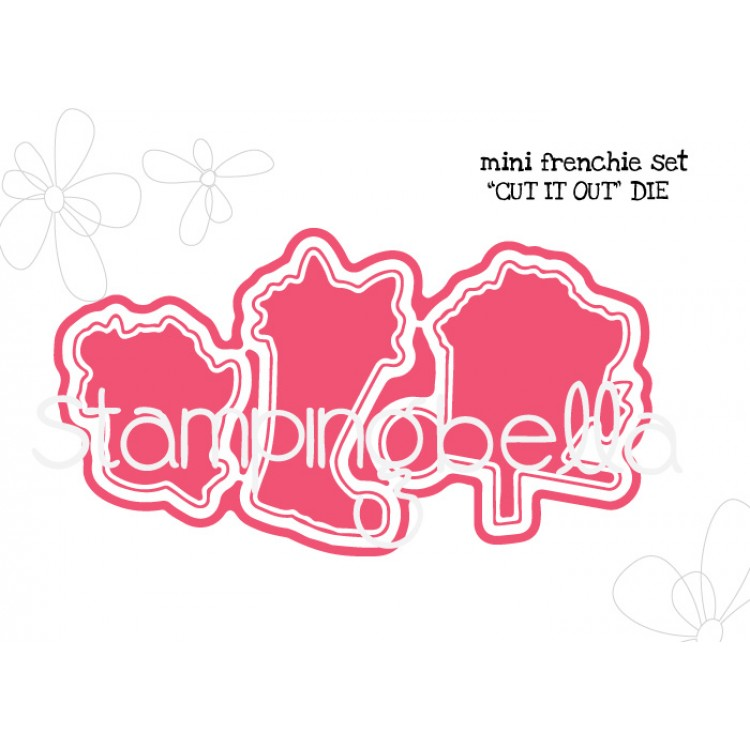 *PRE-ORDER - Stamping Bella - Mini Frenchie set CUT IT OUT DIE