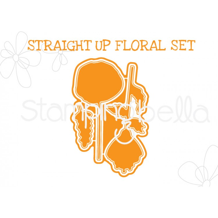 "*NEW* - Stamping Bella - Straight up Floral set  ""CUT IT OUT"" DIE"