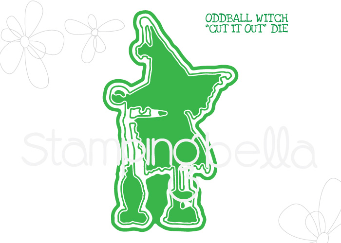 *NEW* - Stamping Bella - ODDBALL WITCH CUT IT OUT DIE
