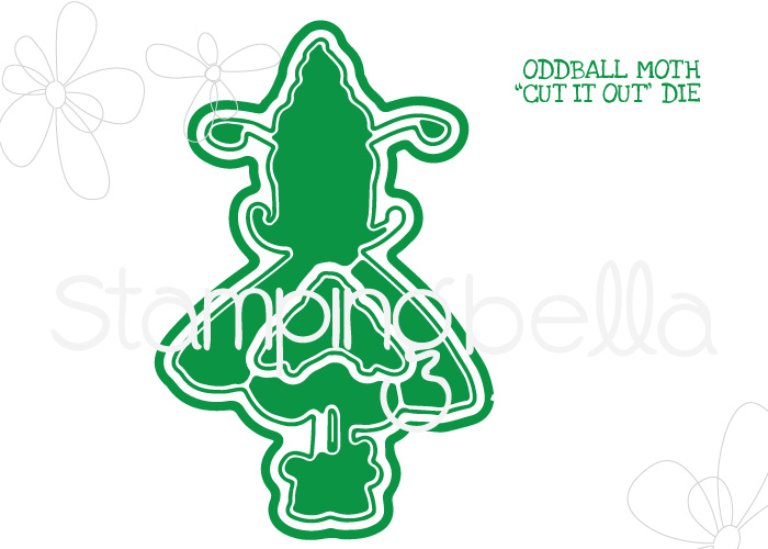 *NEW* - Stamping Bella - ODDBALL MOTH CUT IT OUT DIE