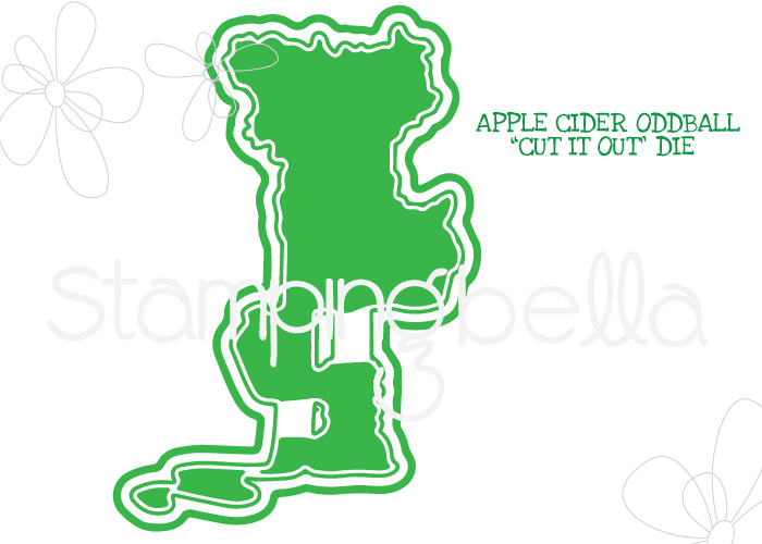 *NEW* - Stamping Bella - APPLE CIDER ODDBALL CUT IT OUT DIE