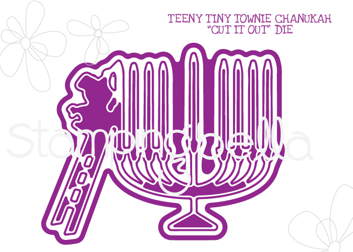*NEW* - Stamping Bella - TEENY TINY TOWNIE CHANUKAH CUT IT OUT DIE