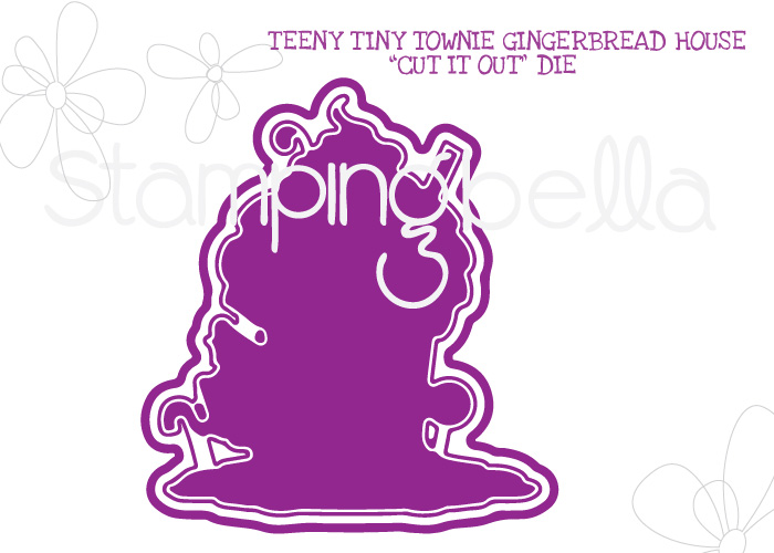 *NEW* - Stamping Bella - TEENY TINY TOWNIE GINGERBREAD HOUSE CUT IT OUT DIE
