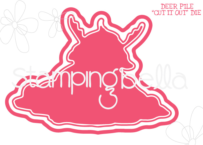 *NEW* - Stamping Bella - DEER PILE CUT IT OUT DIE