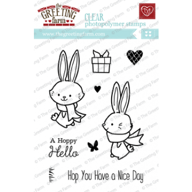The greeting farm hoppy hello stamp the greeting farm dies to the greeting farm hoppy hello stamp m4hsunfo